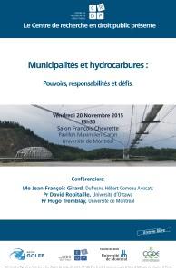 Affiche municipalits et hydrocarbures